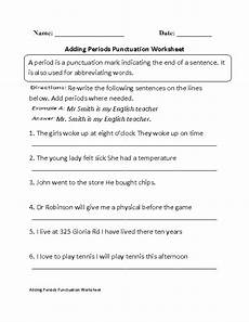 punctuation worksheets grade 4 with answers 20780 adding periods punctuation worksheet with images punctuation worksheets punctuation