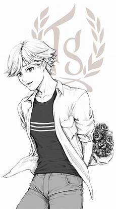 adrien with flowers miraculous ladybug random