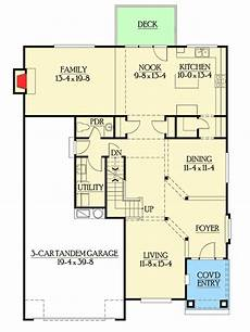 3 garage house plans 3 car tandem garage and bonus space 2306jd