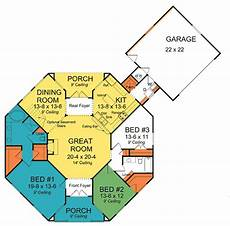 octagon shape house plans octagonal cottage home plan 42262wm architectural