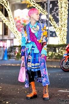 colorful harajuku menswear street style w vintage items courreges necklace
