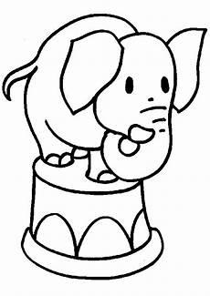 Ausmalbilder Zirkus Elefant Transmissionpress Baby Elephant Coloring Pages