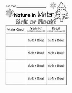float and sink word search nature in winter sink or float worksheet by
