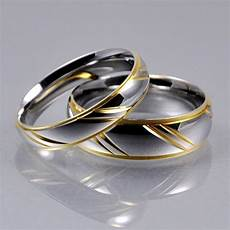 mens silver gold stainless steel 4mm 6mm matching