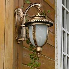 classic rust outdoor wall lantern wall garden light sconce path l ebay