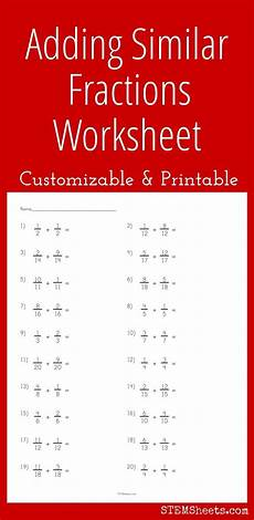 addition and subtraction of similar fractions worksheets for grade 4 9823 17 best images about math stem resources on money worksheets integers and printable