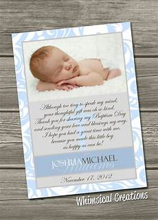 thank you card template for baptism baptism thank you card christening thank you card digital