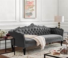 Sofa Samt Grau - tov furniture grey velvet sofa s44 at homelement
