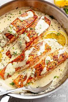 creamy garlic butter salmon cafe delites