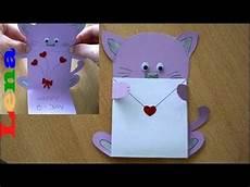 Geburtstagskarte Basteln Katzen Faltkarte Cat Birthday