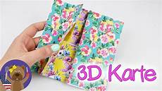 Geburtstag Karte Basteln - diy flipping card cool 3d birthday card or 180 s