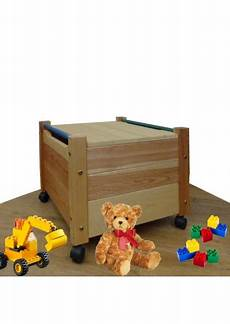 Spielzeugkiste Quot Comtesse Quot Mit Deckel Aus Holz Mit Rollen