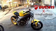 Custom Vixion by Nyolong V Ixion Rasa Ducati V Ixion Flat Tracker