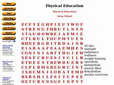 physical education word search worksheet for 4th 6th grade lesson planet