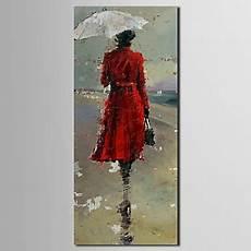 Le Frau Mit Schirm - iarts 174 peinture personnes fille moderne en blouse