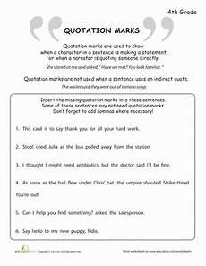 what are quotation marks worksheet education com