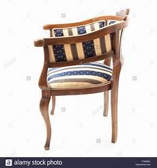 Retro Stil Sessel In Gestreiften Stoff Gepolstert Der