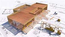 plan maison ossature bois plan architecte maison ossature bois