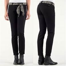 Pantalon Chino Femme Le Temps Des Cerises Lidy Noir