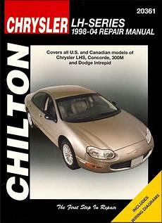 car repair manuals online free 1995 chrysler lhs instrument cluster dodge intrepid chrysler lhs concorde 300m repair manual 1998 2004