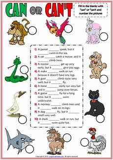 can animals do worksheets 13837 can or can t esl worksheet with animals vocabulary for