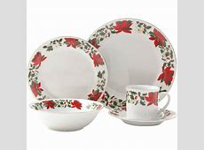 Gibson Poinsettia Holiday 20 Pc. Dinnerware Set   Kitchen