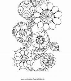 Blumen Ausmalbilder Erwachsene Blumen Borde Erwachsene Ausmalen Malvorlagen Vorlagen