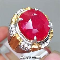 cincin batu permata merah delima ruby jumbo 20 40 ct asli kode 1290 wahyu mulia