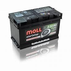 start stop batterie wechseln moll start stop batterie 12v 80ah 800a autobatterien