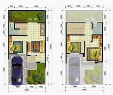 Desain Rumah Ukuran 8x15 2 Lantai Sekitar Rumah