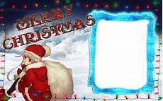 merry christmas frame by writerfairy