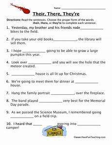grammar worksheets there their they re 24988 homophones worksheet read the sentences choose the proper form of the words t 2nd grade