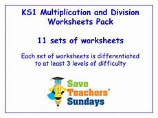 ks1 multiplication and division worksheets 11 sets of differentiated worksheets by