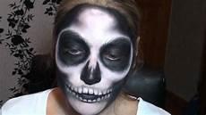 tutoriel maquillage squelette skull makeup
