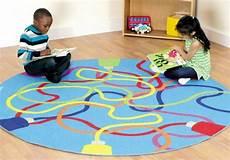 tapis rond enfant le tapis enfant de la couleur et des motifs