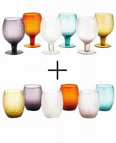 bicchieri villa d este set bicchieri acqua e colorati karma villa d este 12