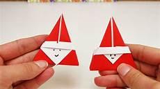 Weihnachtsdeko Basteln Aus Papier - s 252 223 es nikolaus origami diy niedliches origami f 252 r