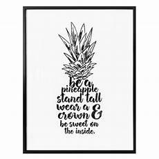 wandbilder mit sprüchen poster be a pineapple wall