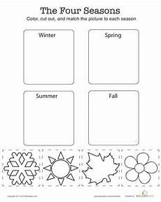 free printable worksheets on seasons kindergarten 14912 match the four seasons worksheet education seasons kindergarten seasons lessons