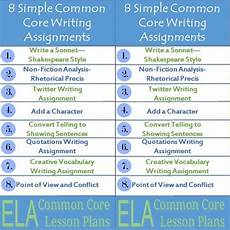 how to write your common 8 simple common core writing assignments trent media