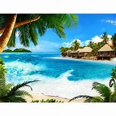 Malvorlagen Meer Und Strand Japan Strand Meer Palmen Vlies Foto Wandtapete Dekoration