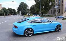 Rs7 2017 Sportback With A Colour by Spotted Audi Rs7 Sportback In A Baby Blue Colour