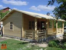 Chalet Bois En Kit Rennes 56 M2 Avec Terrasse Couverte