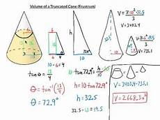 volume of a truncated cone