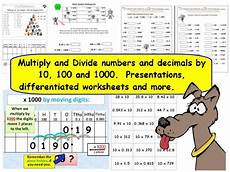 y5 y6 multiply divide numbers decimals by 10 100 and