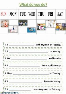 after school activities leisure activities worksheet