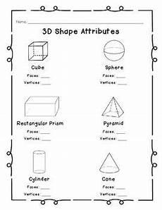 shapes attributes worksheets 1035 3d shape attributes shapes worksheet kindergarten grade lessons grade math