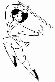 Disney Malvorlagen Pdf Ausmalbilder Disney Prinzessin Mulan