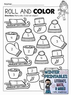 winter themed worksheets pre k 20105 winter printables literacy math science winter theme literacy preschool math