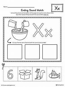 letter x ending sound picture match worksheet myteachingstation com